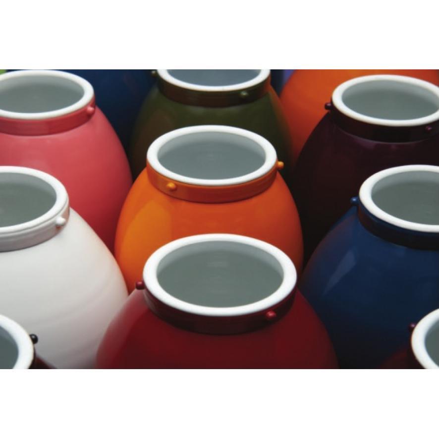 Окраска керамики с помощью порошковых красителей